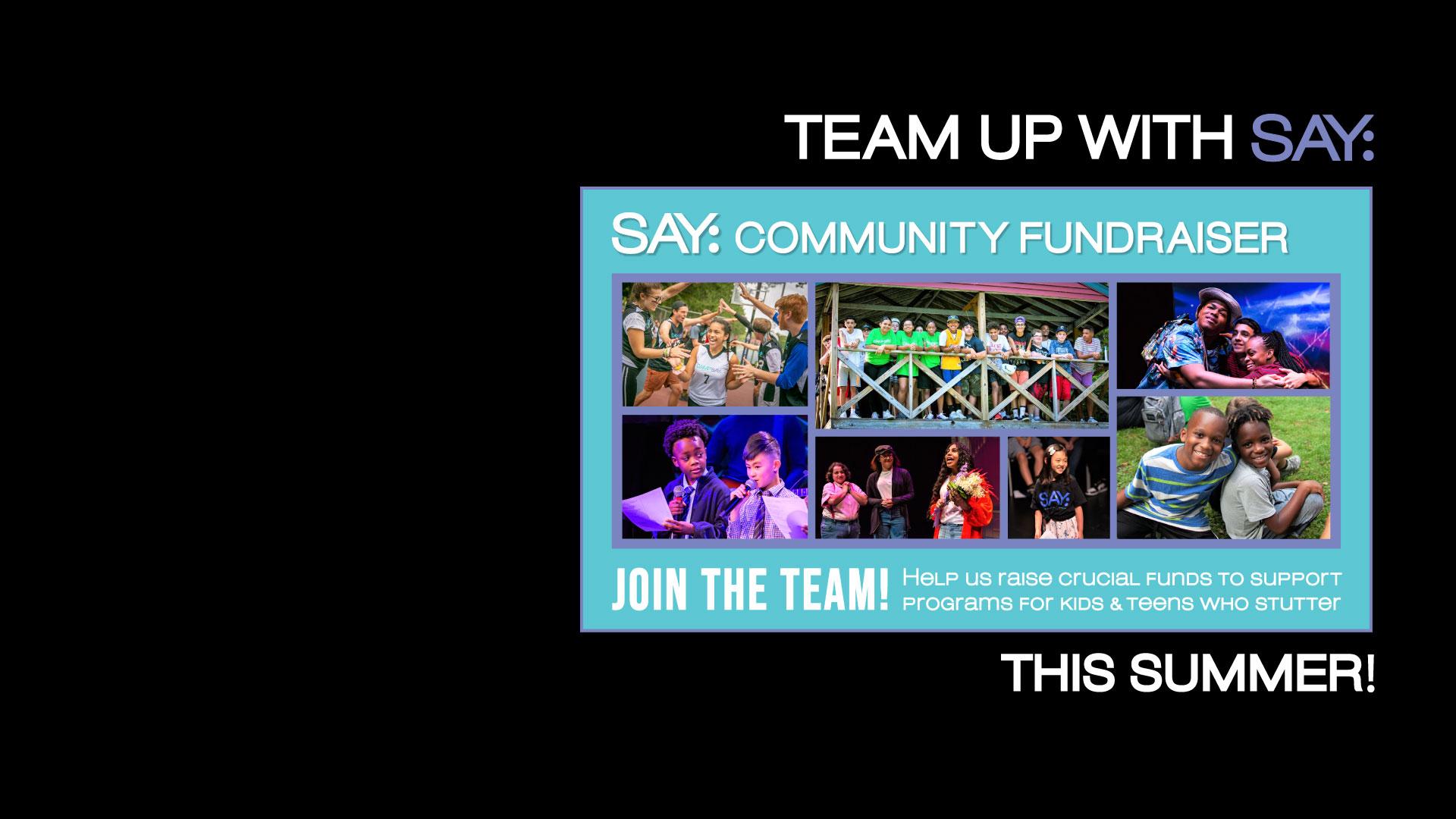 SAY Community Fundraiser - Summer 2021!